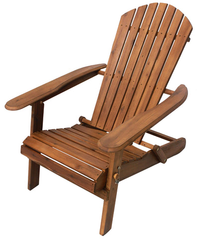 Natural Folding Adirondack Chair - Adirondack Chair