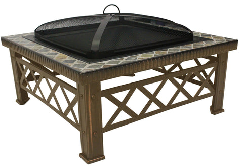 Natural Slate Fire Pit - Fire Pit