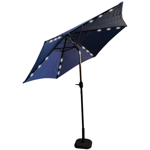 PATIO UMBRELLA LED LIGHT 9FT. BLUE - umbrellas