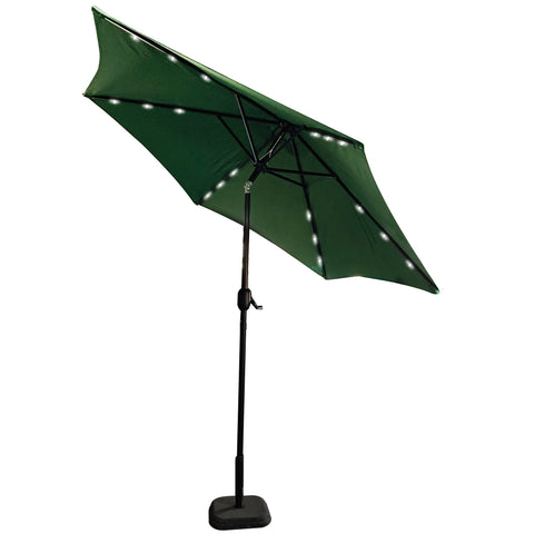PATIO UMBRELLA LED LIGHT 9FT. GREEN - umbrellas