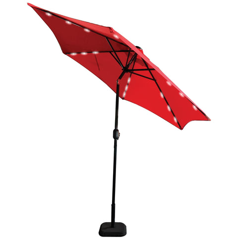 PATIO UMBRELLA LED LIGHT 9FT. RED