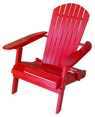 Red Folding Adirondack Chair - Adirondack Chair