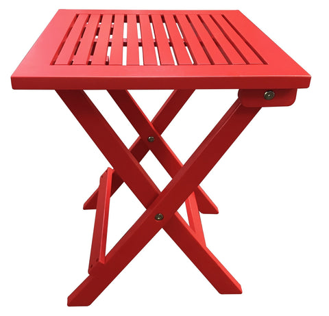 Red Folding Adirondack Side Table - Table