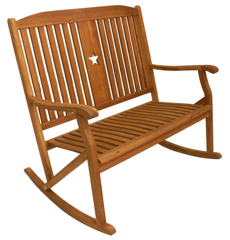 Sequoia Bench Rocker w Star - Rocker Bench