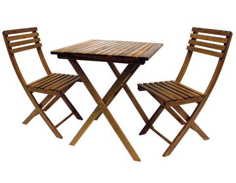 Sequoia Folding Bistro Set - Bistro Set
