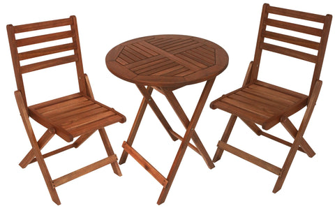 Sequoia Round Folding Bistro Set - Bistro Set