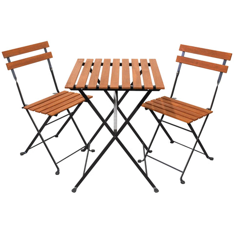 Sequoia Slatted Bistro Set - Bistro Set