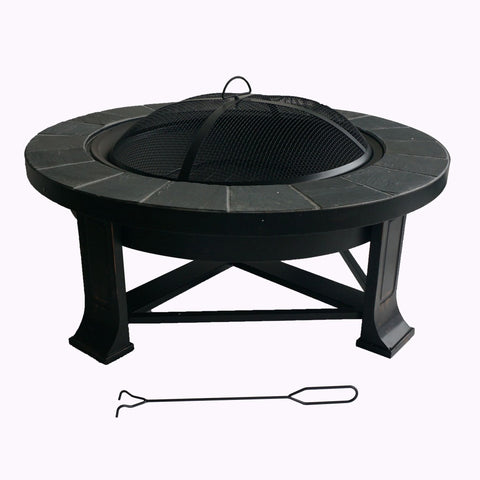 Slate Fire Pit Table - Fire Pit