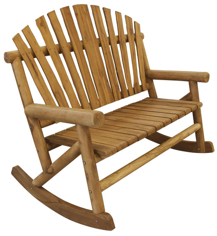 Teak-Log Bench Rocker - Rocker Bench