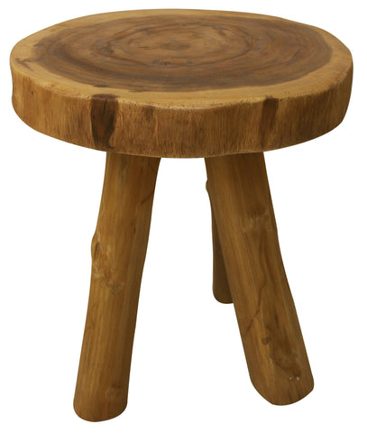 Teak-Log End Table - End Table