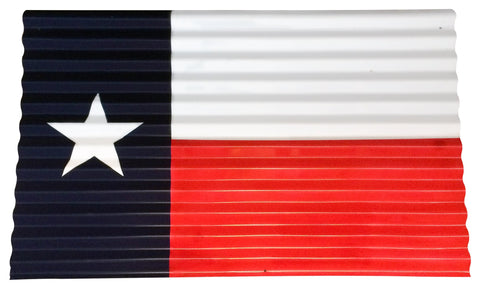 Texas Corrugated Metal Flag - Small - Decor