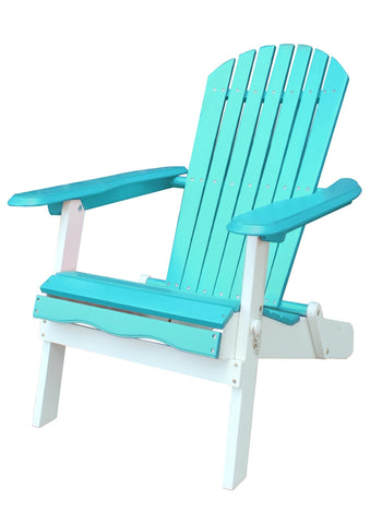 Turquoise and White Folding Adirondack Chair - Adirondack Chair