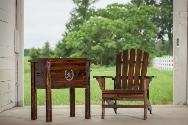 Country Cooler and Adirondack Chair