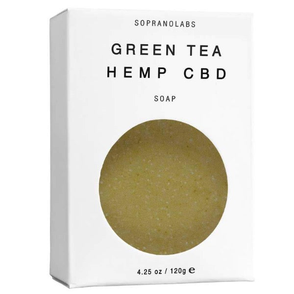Green Tea Hemp CBD Vegan Natural Soap