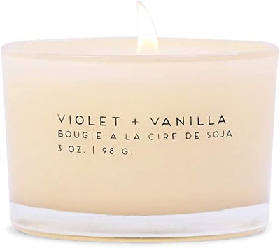 Statement-Vanilla + Violet Candle