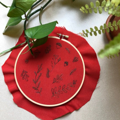 Embroidery Pattern- Fall Foliage Design