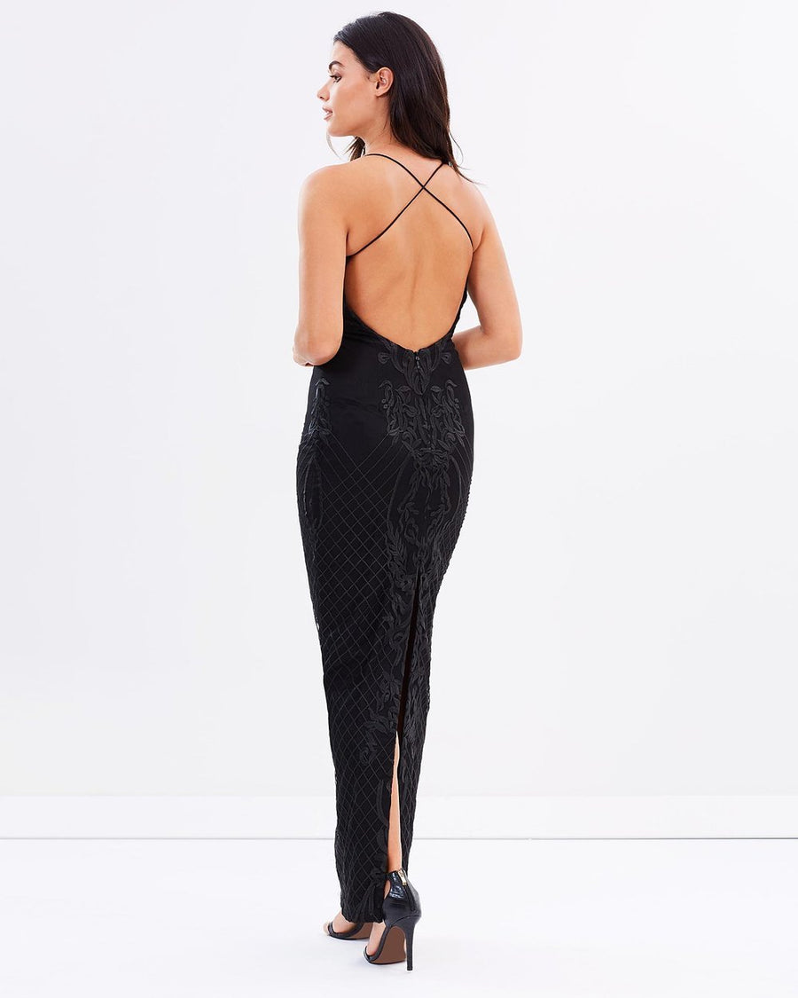 Lois Low Back Lace Gown