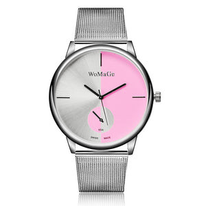 WoMa Fashion Métal montres femmes Watches Full Steel Women'S Watches