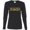 Cup Size Stanley Gildan Ladies' Cotton LS T-Shirt