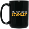 Cup Size is Stanley 15OZ 15 oz. Black Mug