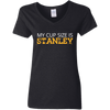 Cup Size Stanley Gildan Ladies' 5.3 oz. V-Neck T-Shirt