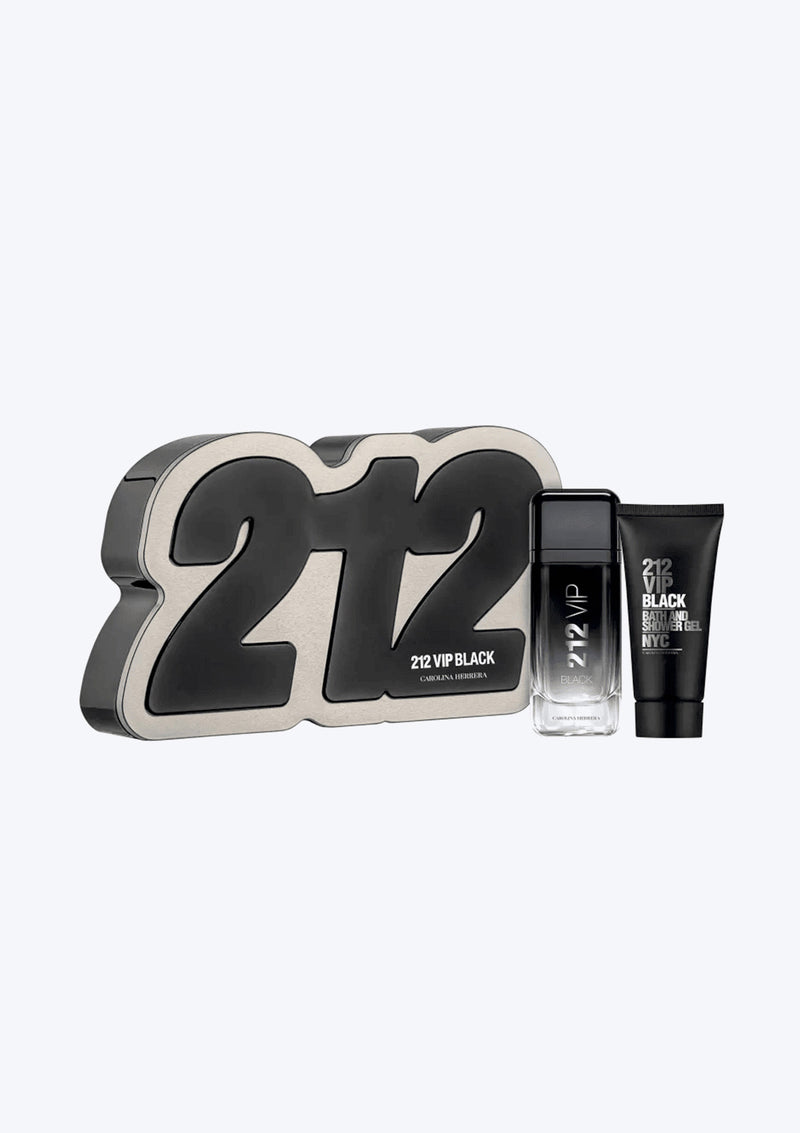 Gift Set Carolina Herrera 212 VIP Men Black