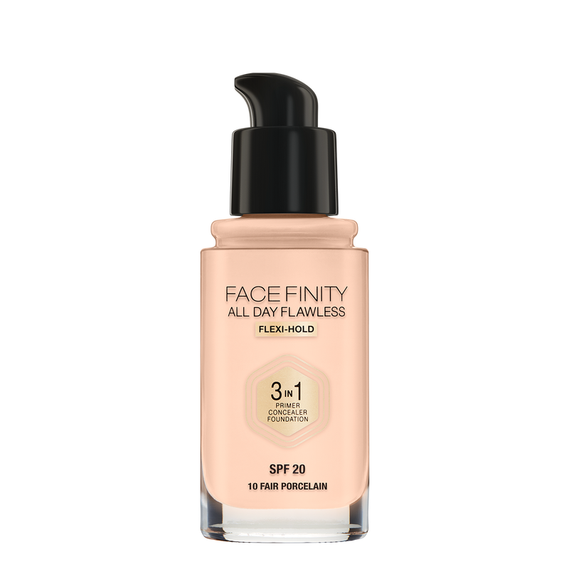 MAX FACTOR<br> FACEFINITY ALL DAY FLAWLESS 3 IN 1<br> Liquid Foundation