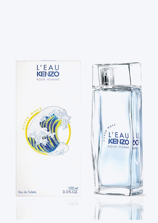 KENZO <br> L'EAU HYPER WAVE POUR HOMME <br> (The new fragrance 2020 for men)