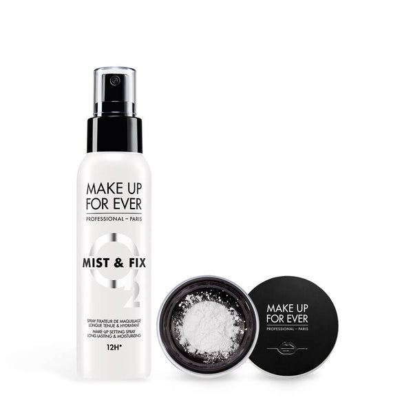 MAKE UP FOR EVER <br> Mist & Fix 100ml & <br>Ultra Hd Loose Powder 8.5g (New 2019)