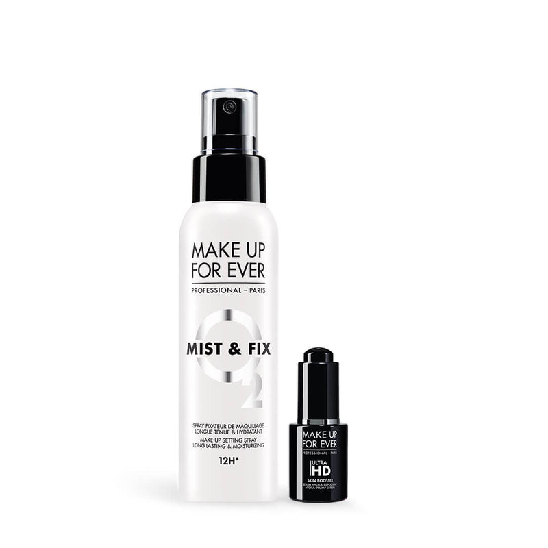 MAKE UP FOR EVER <br> Mist & Fix 100ml & <br>Ultra HD Skin Booster 12ml (New 2019)