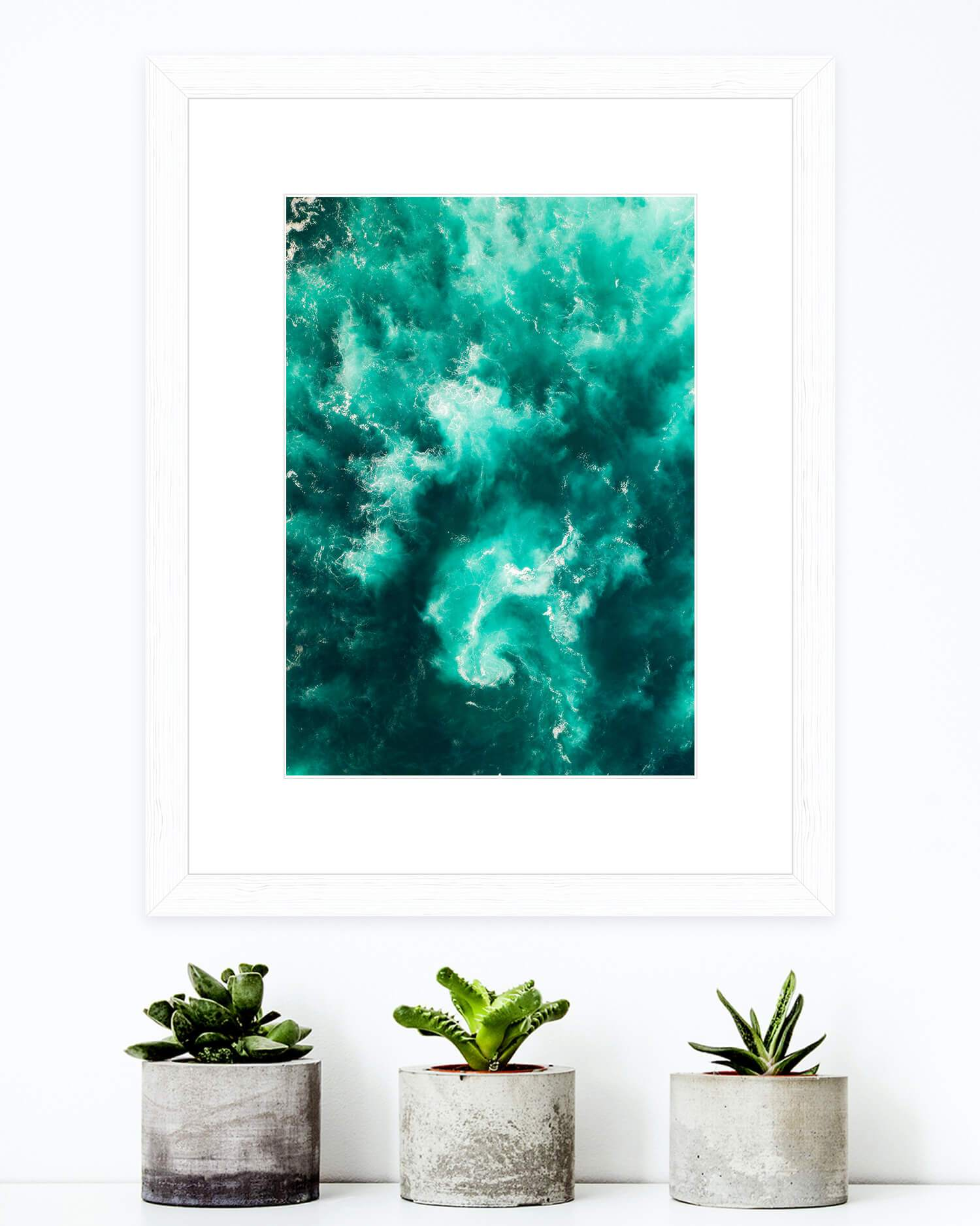 Azure Co Aerial Artwork - Abstract landscape photograph