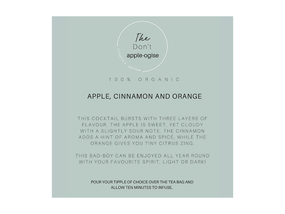 The Don't Apple-ogise Tea Bombs