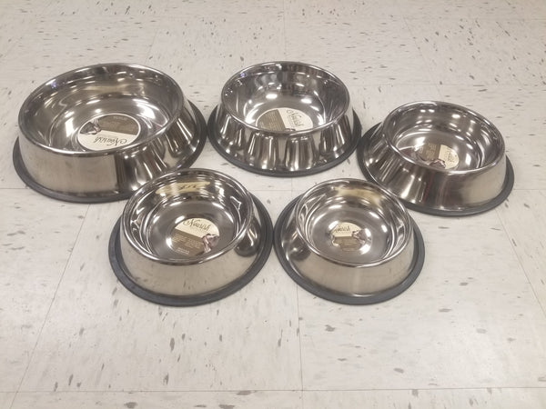 Stainless Steel Non-Tip Bowls