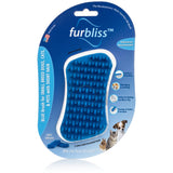 FURBLISS - BLUE BRUSH FOR SMALL PETS WITH SHORT HAIR
