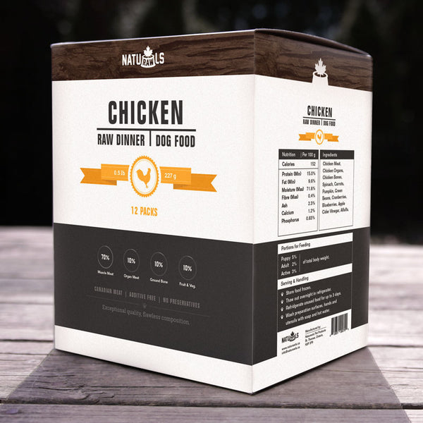 Chicken Raw Frozen Dinner for Dogs
