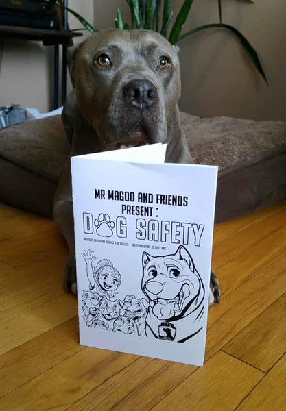 Justice for Bullies Dog Safety Colouring Book for Kids