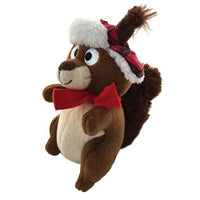 Chester Squirrel Holiday Plush Small Dog Toy