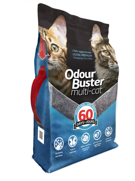 Odour Buster Multi Cat 12kg Bag