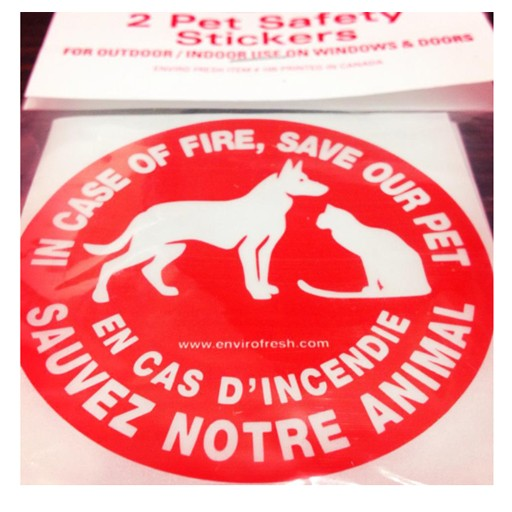 ENVRIO 2PK SAFETY STICKERS