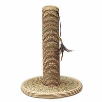 Seagrass Cat Scratcher with Toy