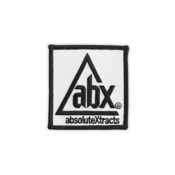 "ABX iron-on patch, 2""x2"""