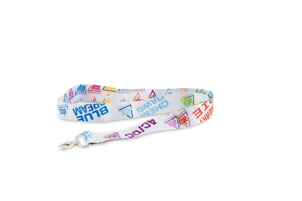 ABX lanyard with all strain titles from the ABX line.