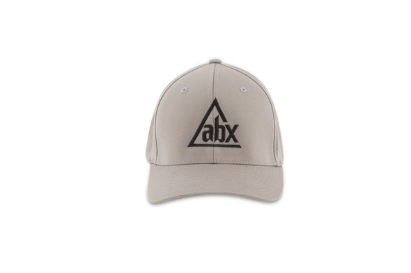Black ABX logo on Grey Flexfit ball cap