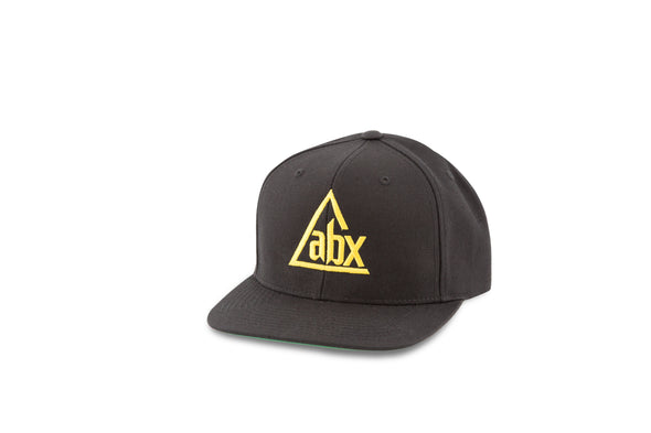 Gold ABX logo on Black Snapback ball cap