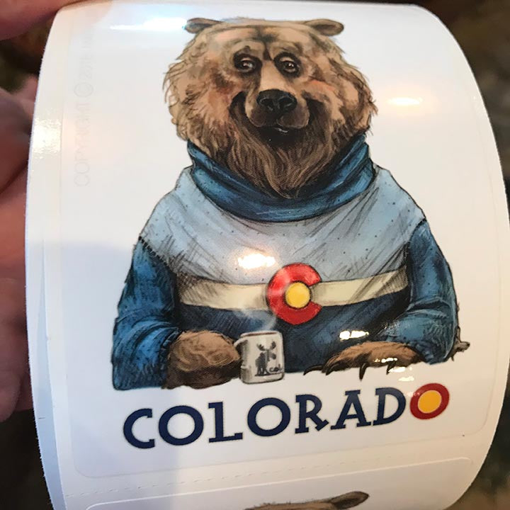 Colorado Bear Sticker