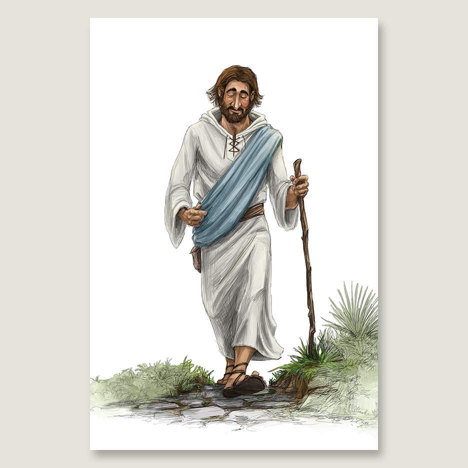 Jesus Walking