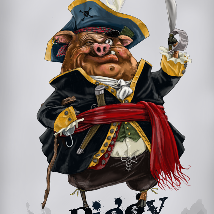 Piggy Pirate and the Pig Leg