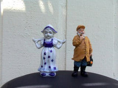 Man & Woman porcelain figurines
