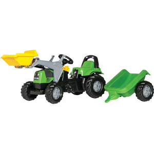 RollyKid Agroplus 67 with Front Loader & Trailer