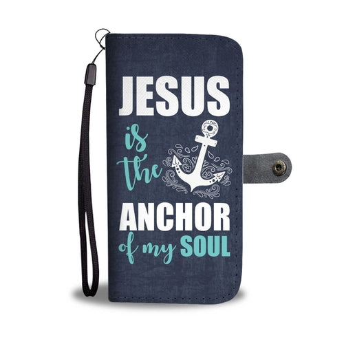 Jesus The Anchor Wallet Phone Case w/ RFID Blocker